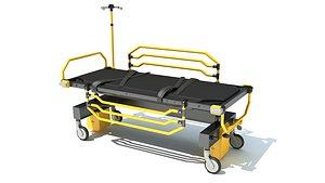 3D medical stretcher model