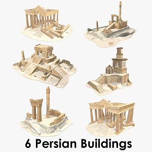 3D Persian Buildings Collection XL - Low Poly - Textured