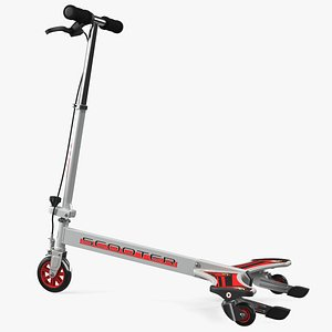 PowerWing Scooter Gray Red 3D