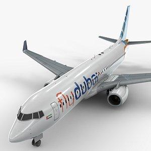 boeing 737-8 flydubai 3D