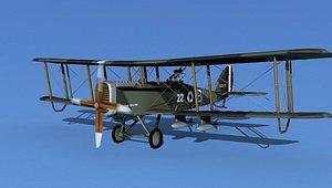 3D model Airco DH-4 V03 Bomber RAF