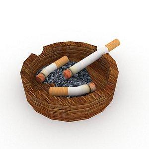 Cigarettes in Ashtray 3D