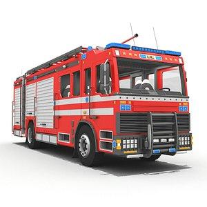 Euro Fire Truck Emergency Unit 3D model
