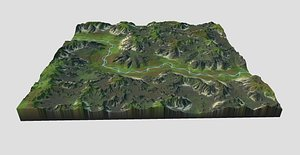3D model games maps terrain