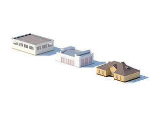 Industrial city buildings 3d models 3D model