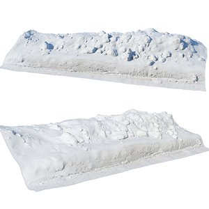 Ultra realistic a Pile v2 of snow 3D