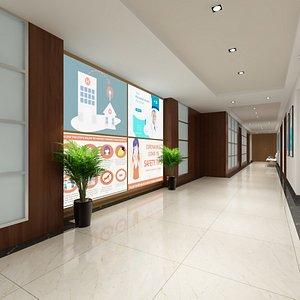 hallway hospital model