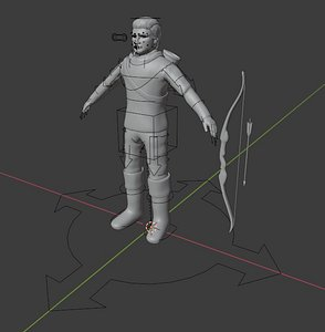 archer character people 3D model