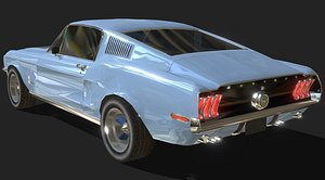Ford Mustang 1968 - Low Poly model