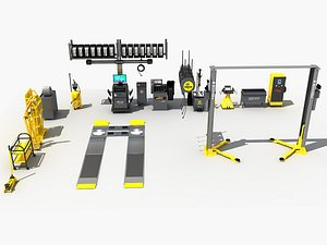 Garage Equipment Collection 3D
