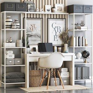 IKEA office workplace 64 3D model