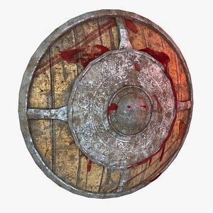 Low Poly War Shield 3D model