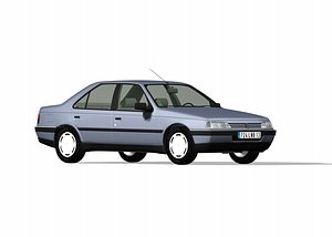 3D 405 generation 2 french car model