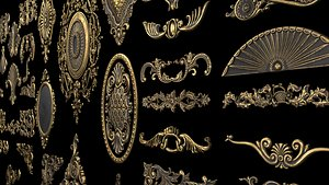 3D Collection of classic ornament