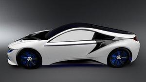 concept electric car 3D model