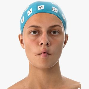 3D penelope human head cheek model
