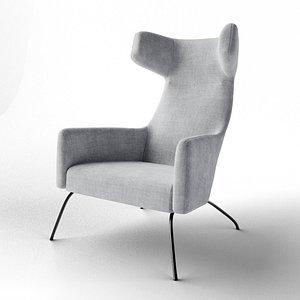 Havana Wing Chair 3D model