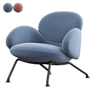 BAIXA Armchair by SOFTLINE vray 3D model