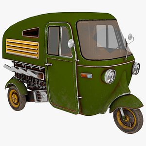 3D Three wheeler 01