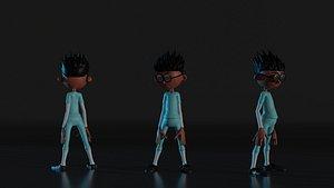 3D model Geeky boy Rigged 3D Model
