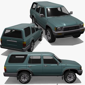 3D Toyota 4 Runner 1989 4x