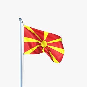 Animated Flag of Macedonia 3D model