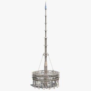 3D model tower spire