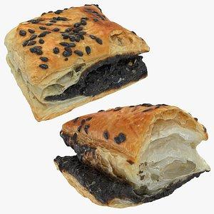 3D pastry black bean model