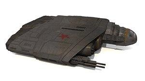 3D model spaceship combat