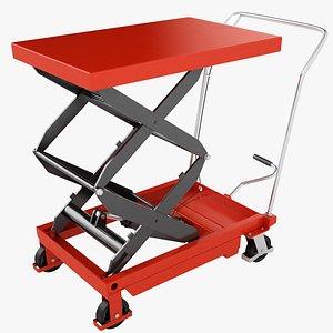 Mobile Hydraulic Trolley 06 3D model