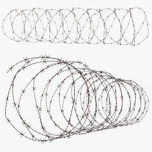 3D Spiral Razor Wire Obstacle