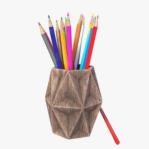 Pencils Pencil Holder 3D model