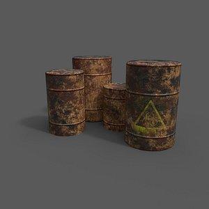 3D barrels industrial container