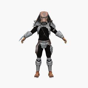 3D warrior fighter model