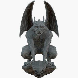 3D gothic gargoyle