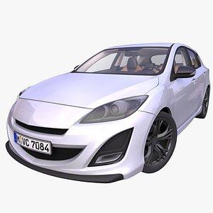 generic sport hatchback interior car 3D model