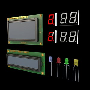 LCD Module and Digit LED Display model