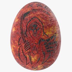 3D Grim reaper skull evil egg model