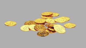 coin bitcoin 3D model