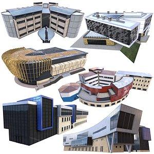 3D model Modern Building Pack