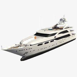 3D yacht vessel ship model