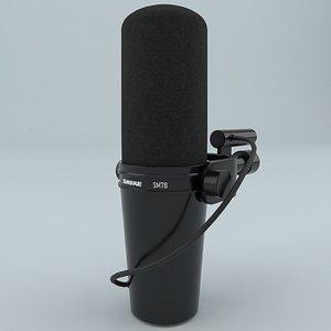 3D microphone shure sm7b