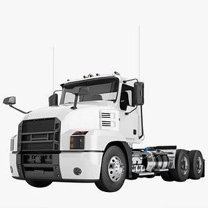 3D model semi truck day