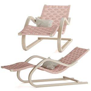 3D artek chair lounge model