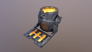 3D Mine Cauldron model