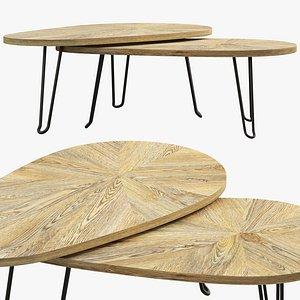 Joybird Alix Bunching Coffee Table model