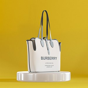 Barberry White Canvas Bag 3D