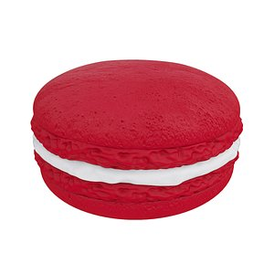 macaroon red 3D