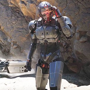 Android Sci-fi Police Robot soldier military 3D