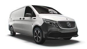 3D Mercedes Benz  EQV  Cargo    Van   L3 2021 model